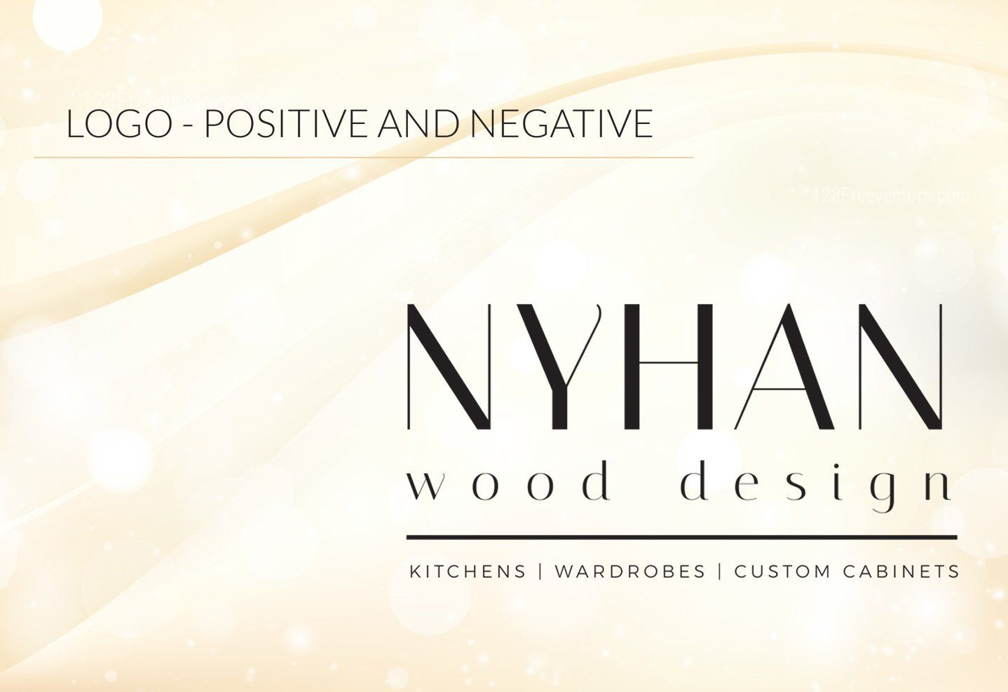 Nyhan Wood Design - Logo Positive and Negative
