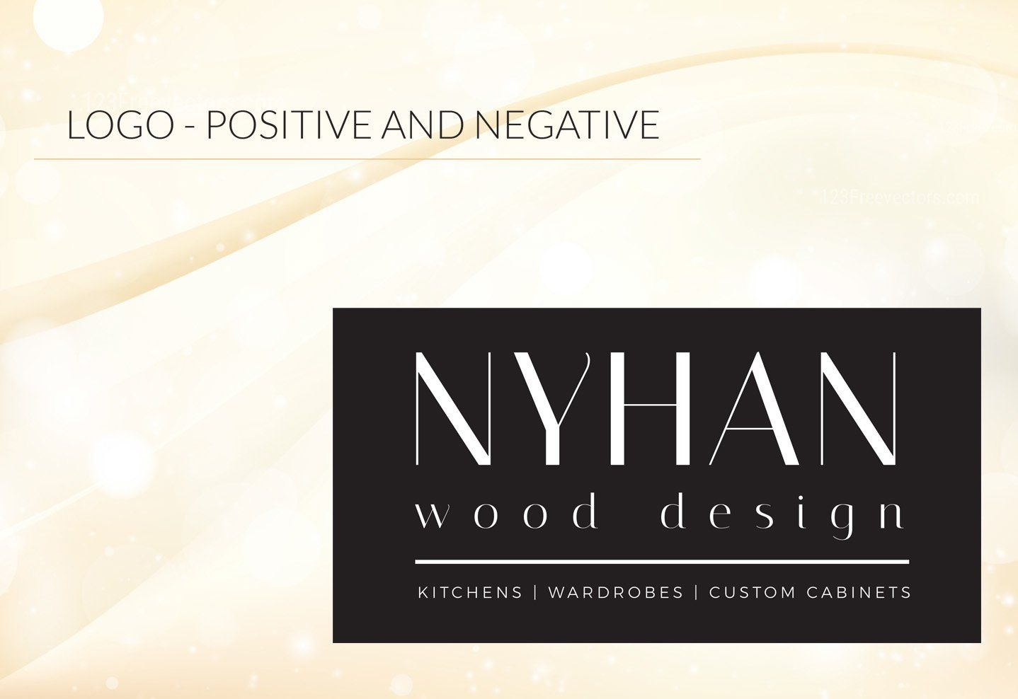 Nyhan Wood Design - Logo Positive and Negative black background